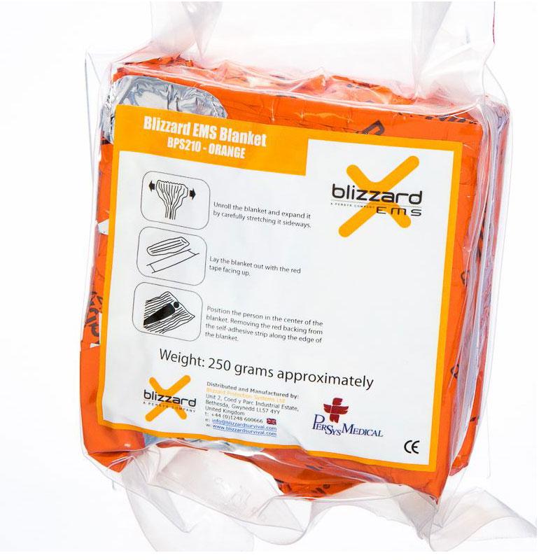 Спасително одеяло-фолио - Blizzard EMS Blanket – Orange
