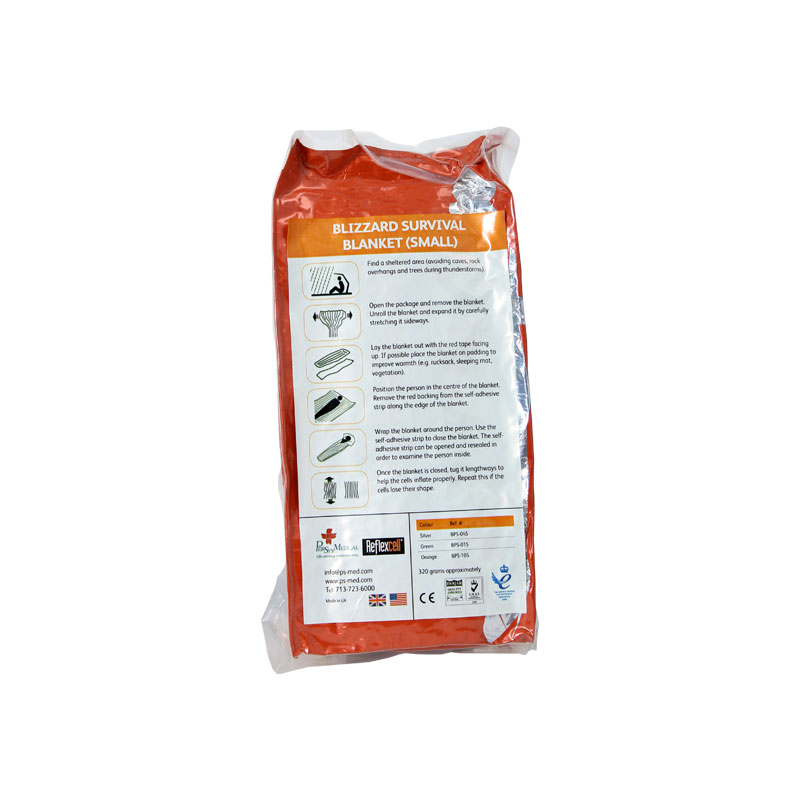 Спасително одеяло-фолио Blizzard Survival Blanket – Orange BPS-10